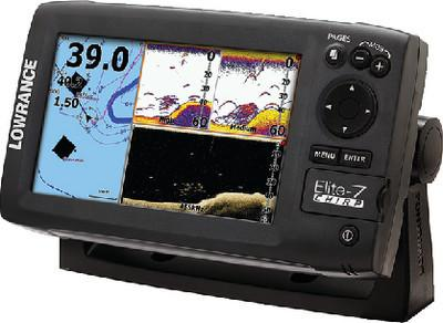 Lowrance Elite-7 Gold CHIRP Fishfinder/Chartplotter with 83/200 KHz and 455/8...