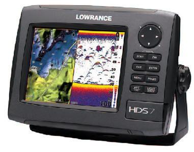 Lowrance HDS-7 GEN2 Plotter/Sounder, with 6.4-inch LCD, Insight USA Cartograp...
