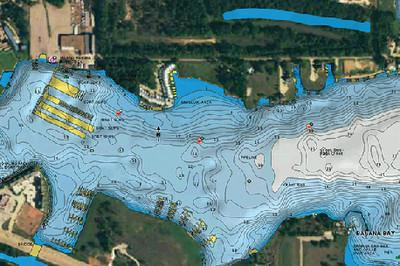 Navionics HotMaps Platinum South U.S. Multi-Dimensional Lake Maps on CF Card