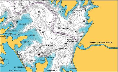 Navionics HotMaps Premium East U.S. Two-Dimensional Lake Maps on SD Card
