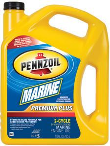 Pennzoil (550022726-3PK) Outboard 2-Cycle Synthetic Marine Engine Oil - 1 Gallon