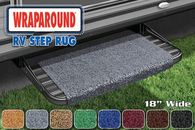 Prest-O-Fit 2-1041 Wraparound RV Step Rug Imperial Blue 18 in. Wide