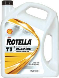 Shell Rotella 550019857-3PK T1 30 Heavy Duty Diesel Engine Oil (CF/CF-2) - 1 Gallon Jug Pack of 3