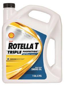 Shell Oil Rotella T Triple Protection 15W-40 Weight Diesel Oil 2.5 Gal 550019919