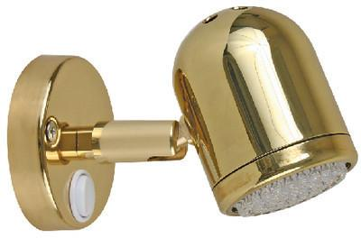 "Scandvik 19052P Brass 4 1/4"" x 2 3/4"" Reading Light"