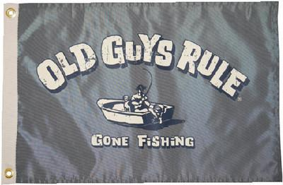 Taylor Made Products 5637 Old Guys Rule Gone Fishing Flag