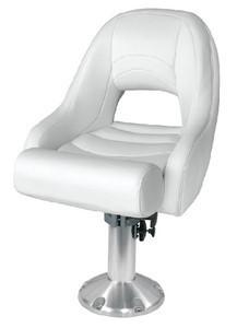 Wise Traditional Bucket Seat with Bolster (White)