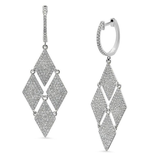 4 DIAMOND DROP EARRINGS