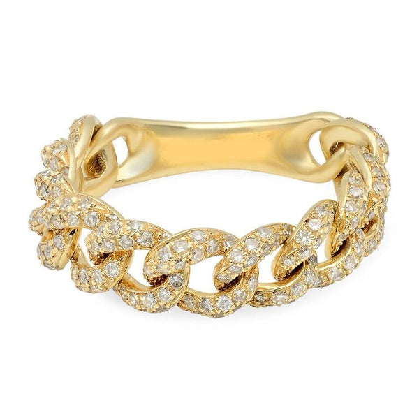 PAVE CHAIN LINK RING