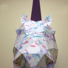 paper animal sculpture unicorn