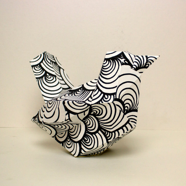 Bird Papercraft Sculpture