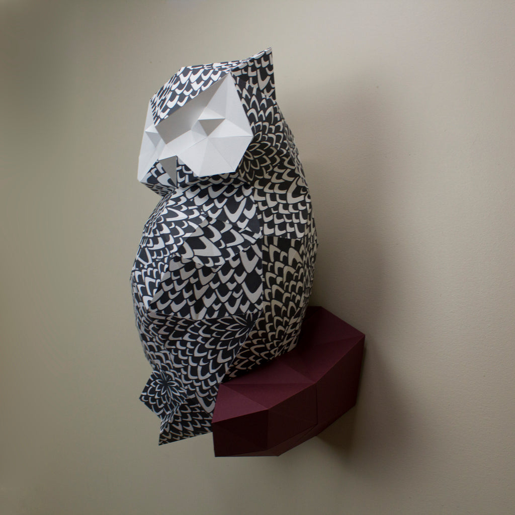 James the Feathered Owl | DIY Paper Animal