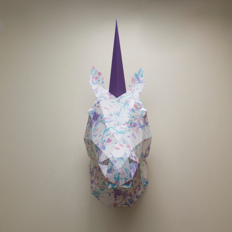 Vera the Marbled Unicorn | DIY Papercraft Animal Kit