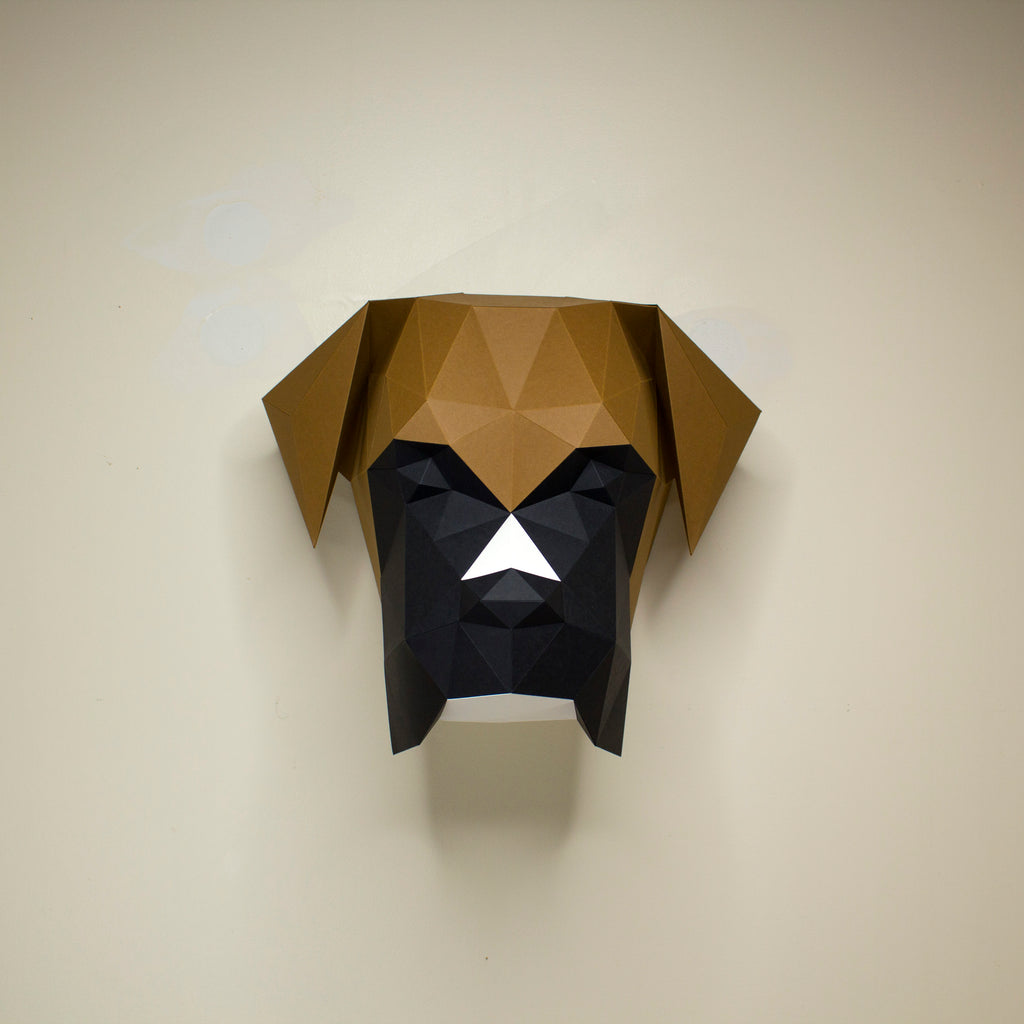 Mosley the Boxer Dog | DIY Paper Animal Kit