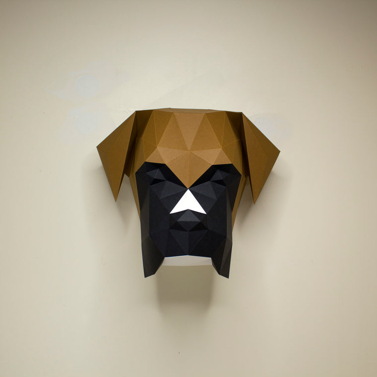 Mosley the Boxer Dog | DIY Paper Craft Animal Kit