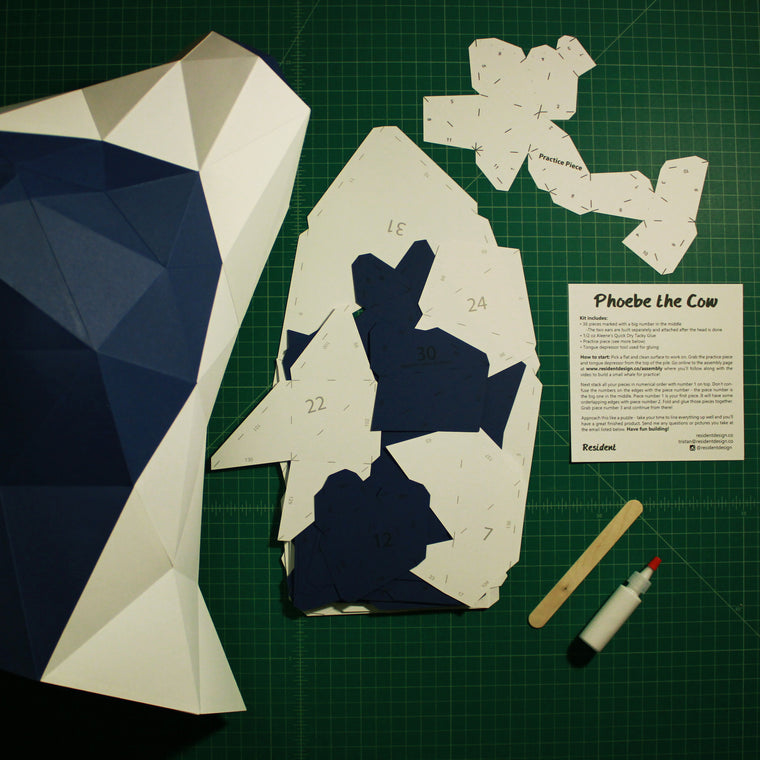 Cow DIY Paper Animal Sculptures