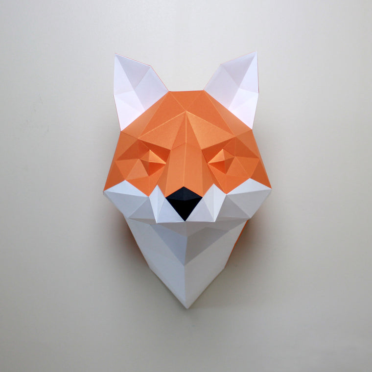 Cecilia the Fox | DIY Papercraft Sculpture Kit