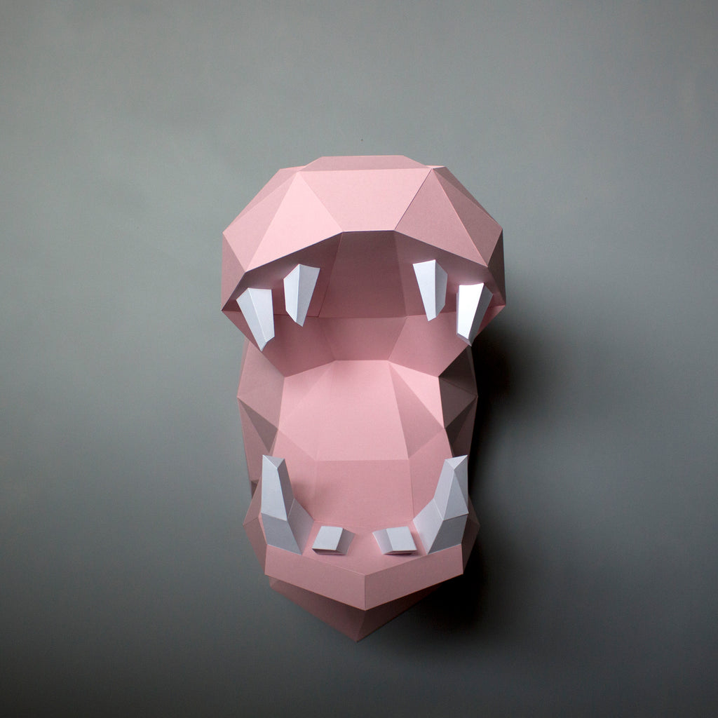 Penelope the Hippo | DIY Paper Craft Animal Kit