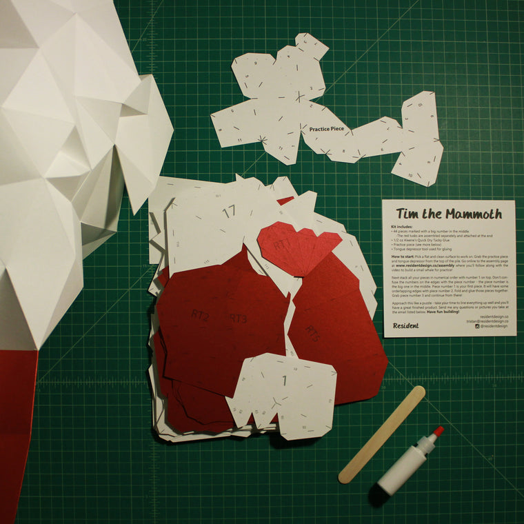 Mammoth DIY Animal Sculpture Kit