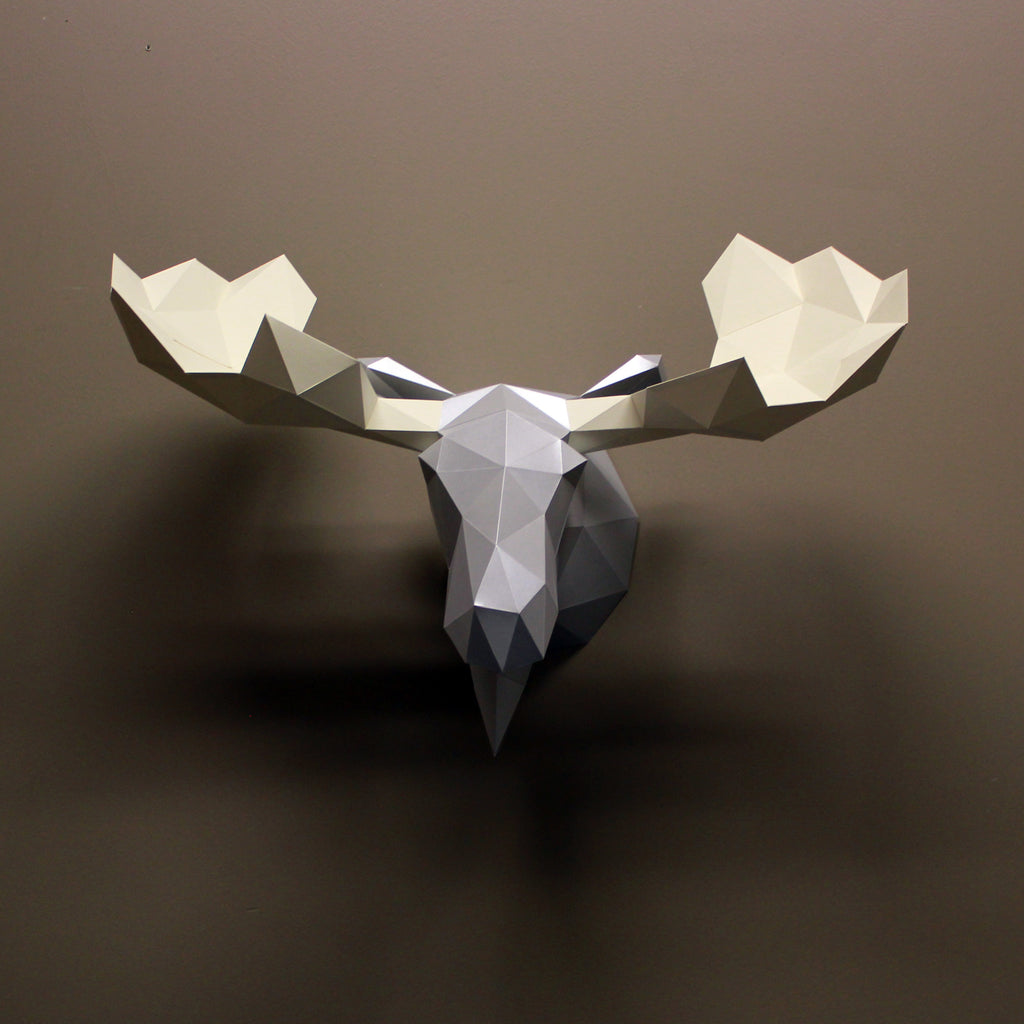Moose DIY Paper Animal Sculpture