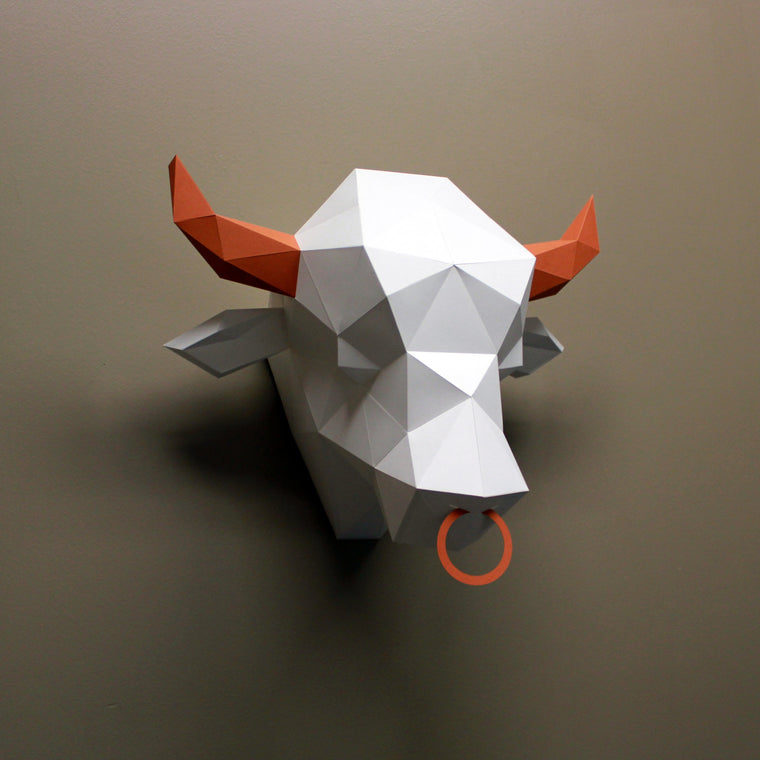 Simon the Bull | DIY Paper Sculpture Kit