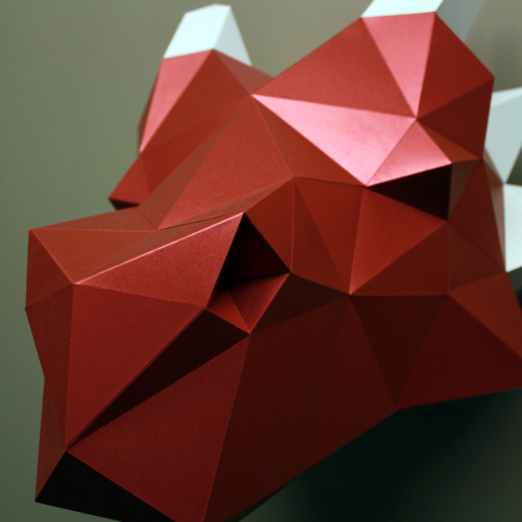 Dragon DIY Paper Animal Sculpture