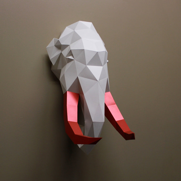 Tim the Mammoth | DIY Papercraft Animal Kit