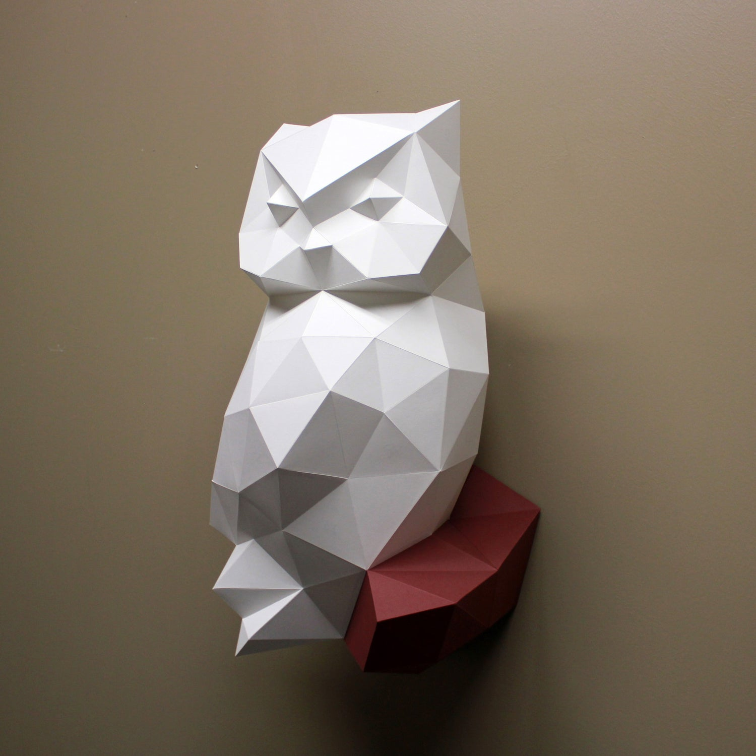 Owl DIY Paper Animal Sculpture