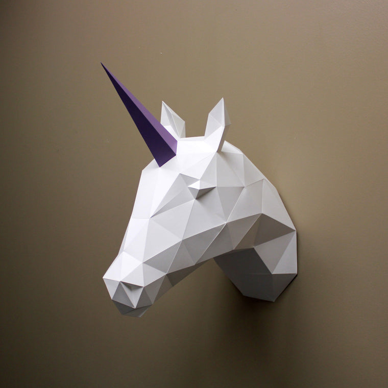 Vera the Unicorn | DIY Paper Sculpture Kit