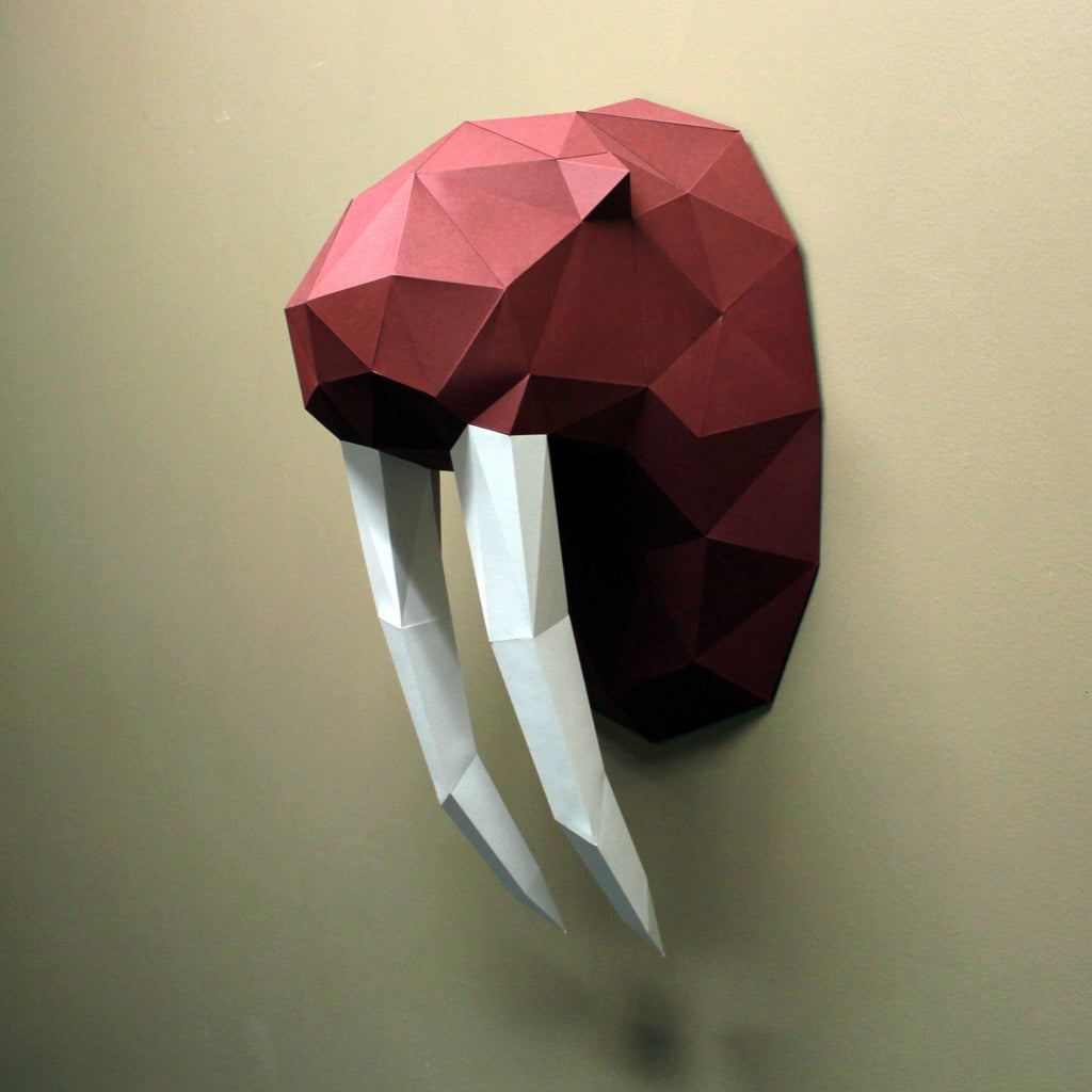 Walrus Paper Animal Sculpture