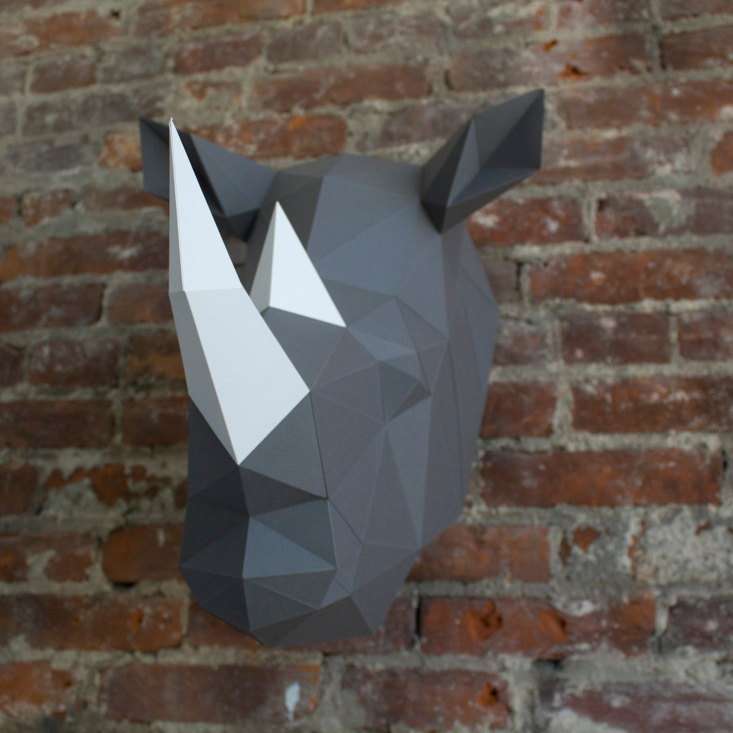 Beverly the Rhino | DIY Paper Craft Animal Kit
