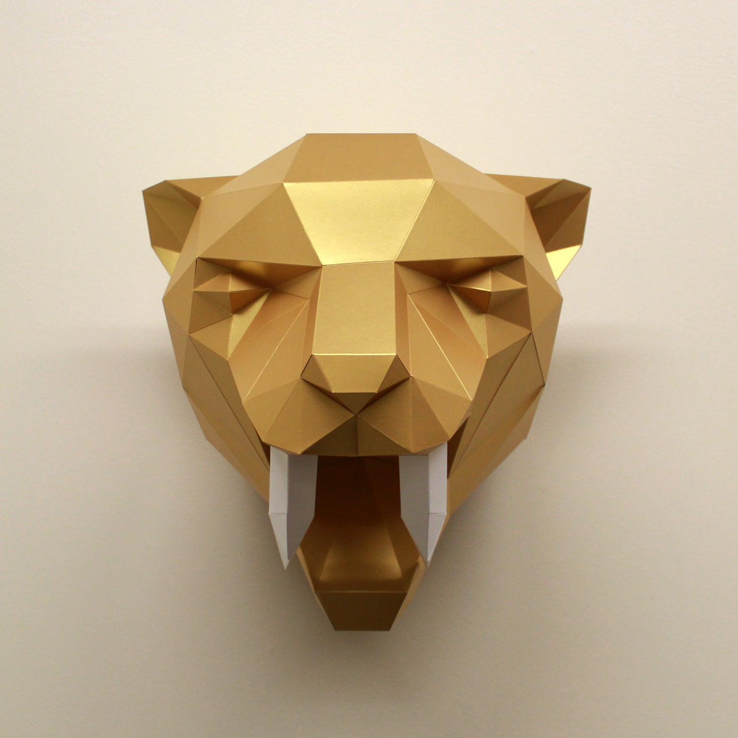 Fiona the Sabre-Tooth Tiger | DIY Papercraft Animal Kit