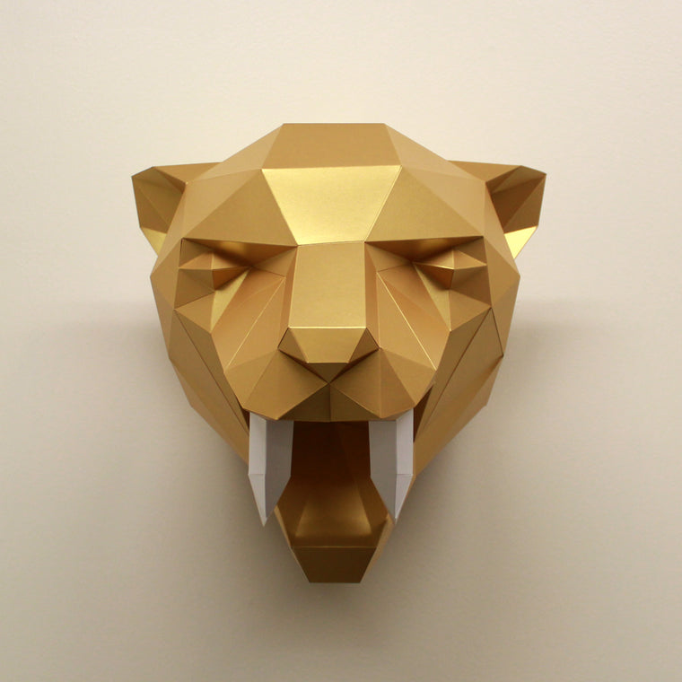 Fiona the Sabre-Tooth Tiger | DIY Paper Craft Animal Kit