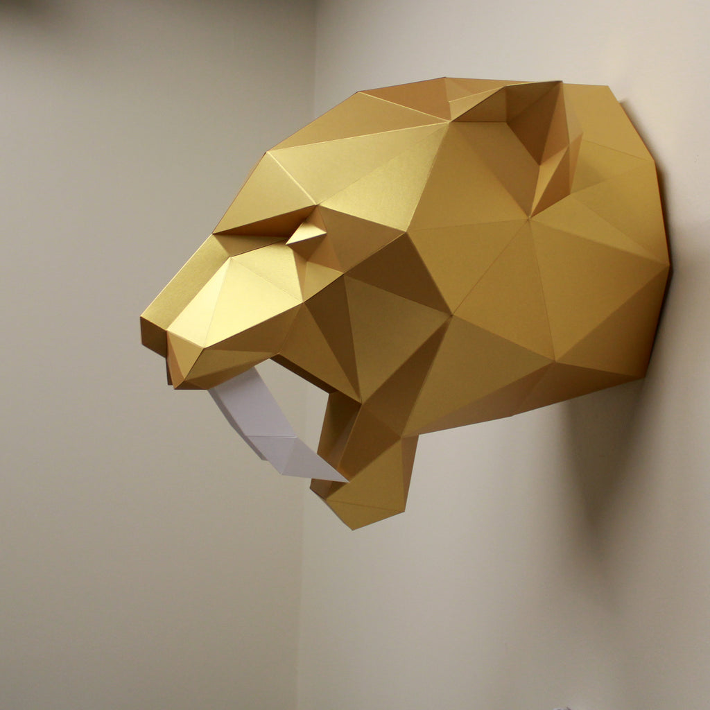 Saber-Tooth Tiger Origami