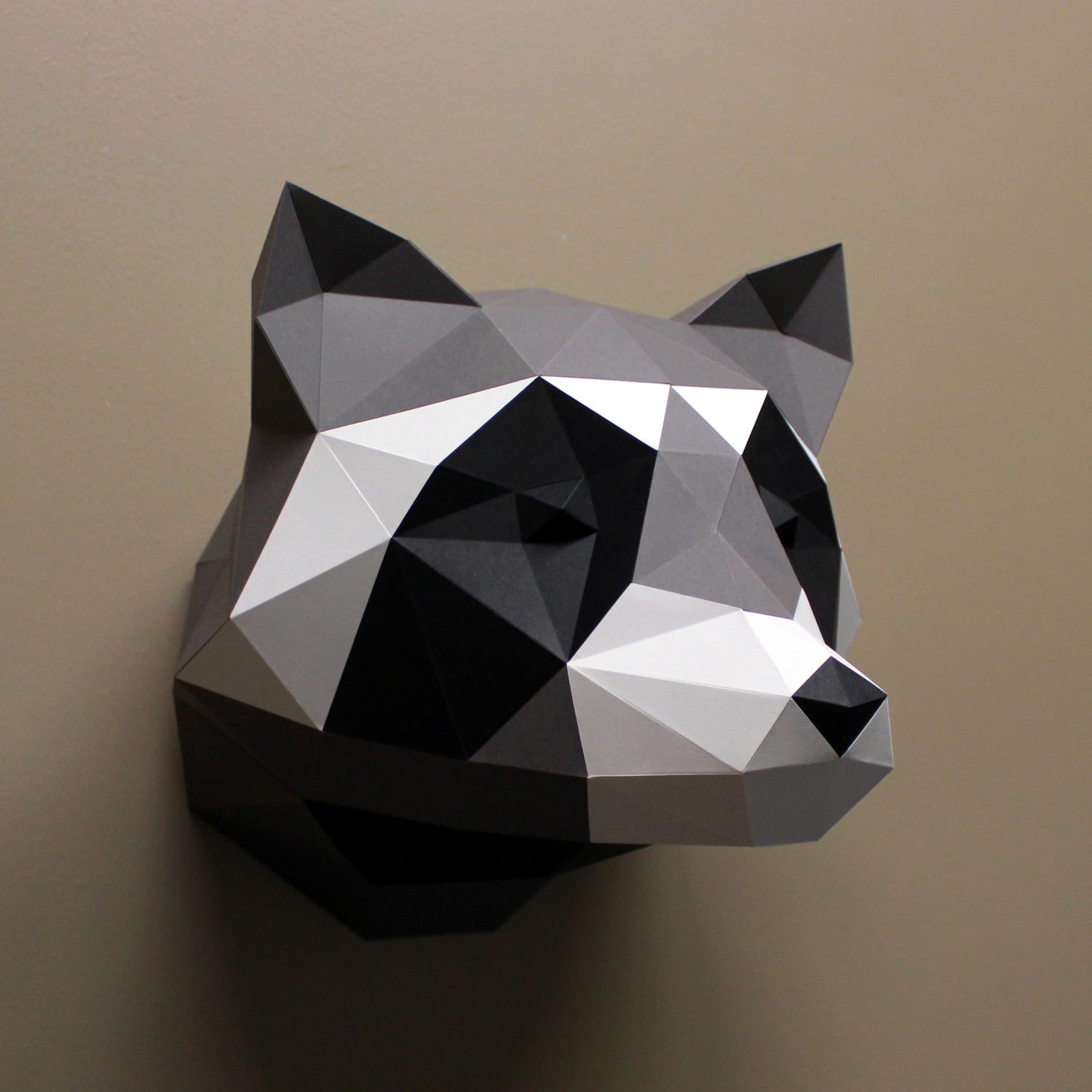 Raccoon DIY Paper Animal Sculptures