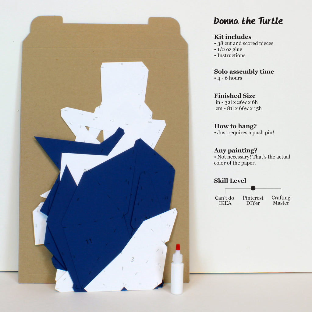 Donna the Turtle | DIY Paper Sculpture Kit