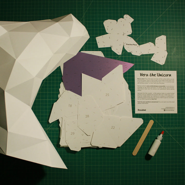 Unicorn DIY Paper Sculpture Kit