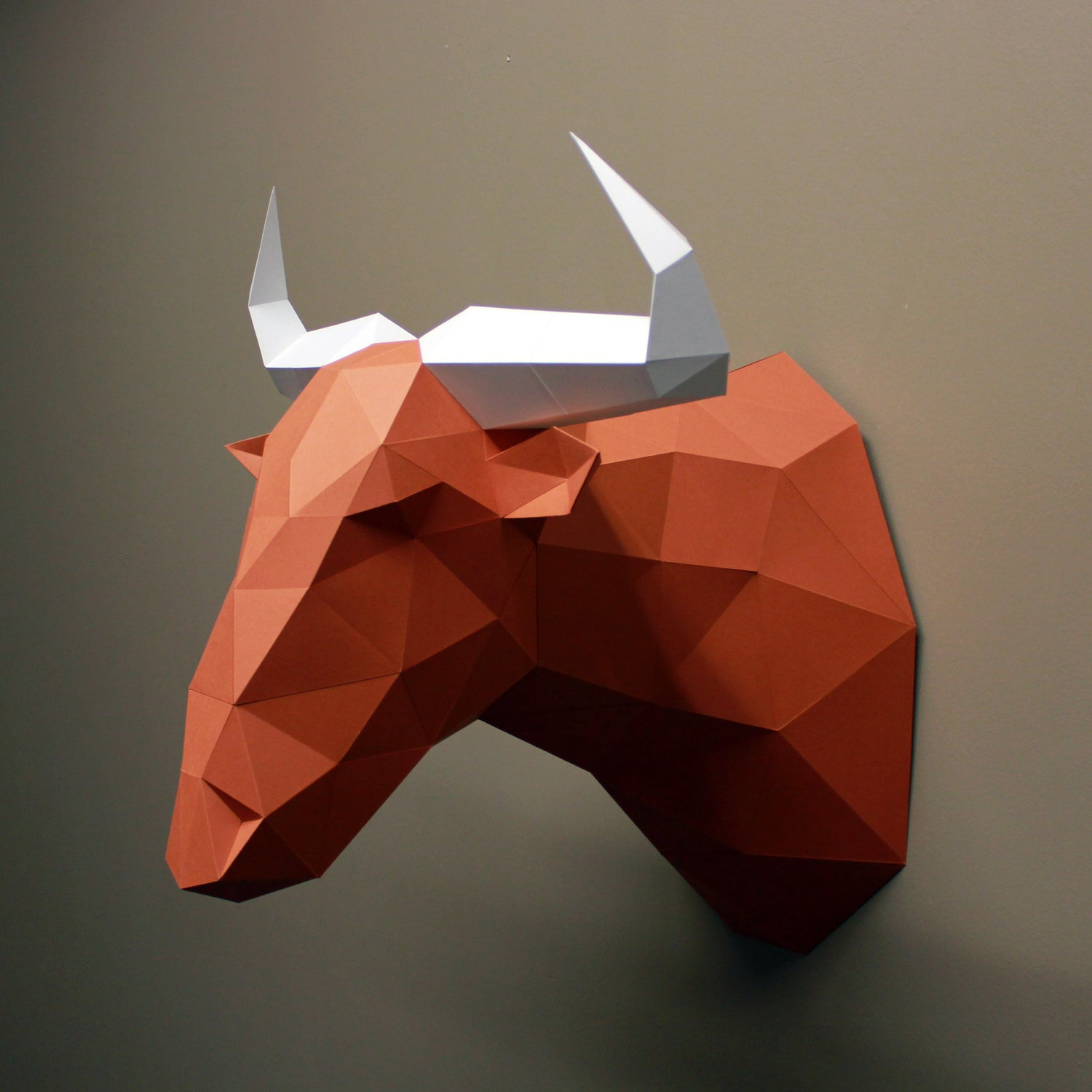 Wildebeest DIY Paper Animal Sculpture