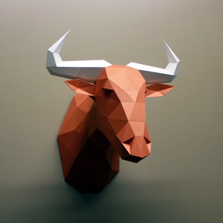 Gerard the Wildebeest | DIY Paper Sculpture Kit