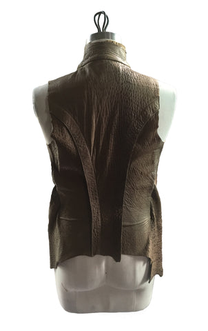 MB LV10 Lambskin Leather Double Vest - Some Things Dark