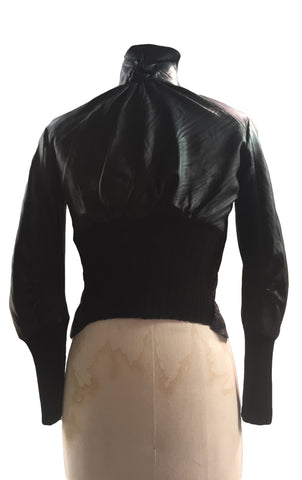 MB WLJ07 Women's Leather Bomber Jacket, Double Zipper Front - Some Things Dark