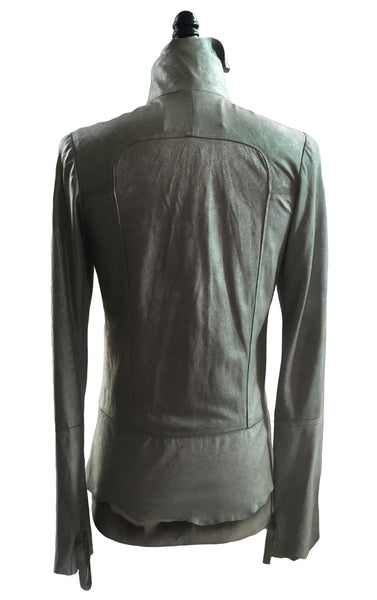 MB LJ20 Lambskin Metallic Raw Cut Jacket - Some Things Dark