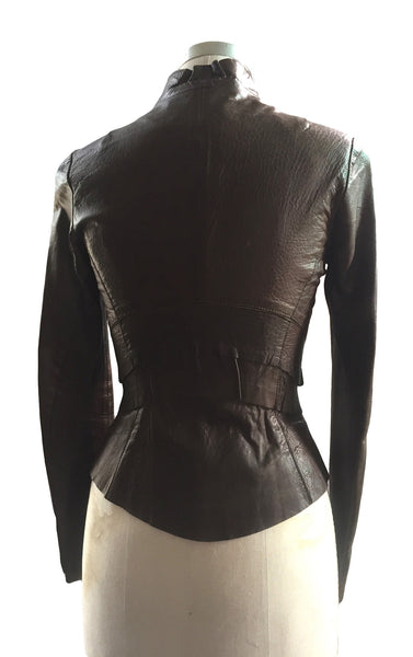 MB LJ22 Lambskin Leather Jacket with Rounded Body - Some Things Dark