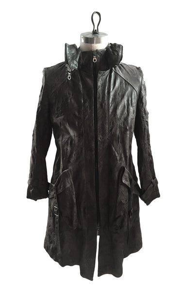 MB LC17 Lambskin Leather Trench Coat Hoodie - Some Things Dark