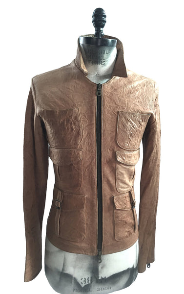 MB LJ13 Lambskin Leather Jacket 6 Pockets Silk Lining - Some Things Dark