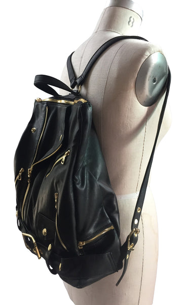 MB LB26 Lambskin Backpack Bag Leather Motor Jacket Design - Some Things Dark