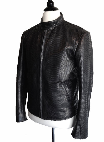 MN PJK01 Python Snake Skin Motor Jacket - Some Things Dark