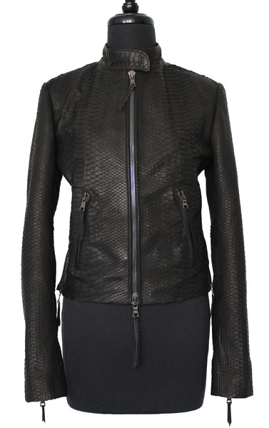 MN PJK02 Python Snake Skin Motor Jacket - Some Things Dark