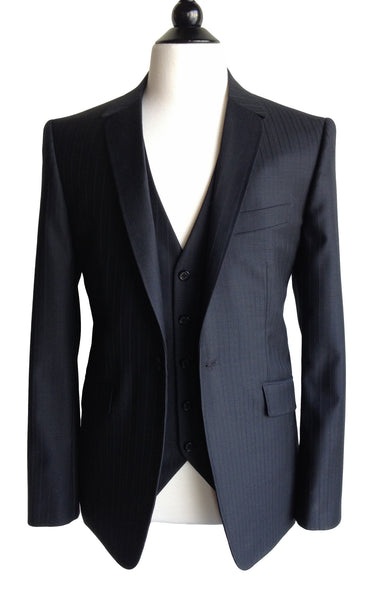 MN JK01 Suit Jacket one button front Italian Super 120's Wool and Silk - Some Things Dark