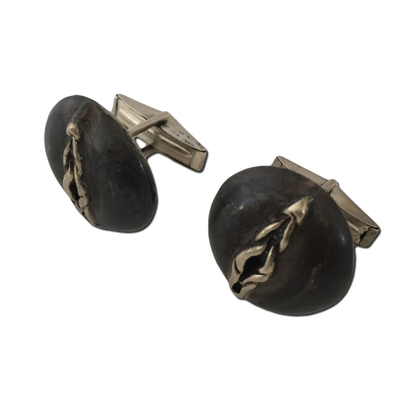 MB JC01 Blackened Sterling Silver Cuff Links - Some Things Dark